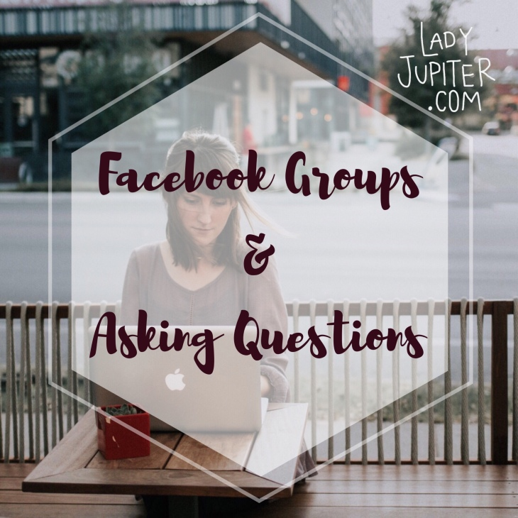 Facebook Groups + Asking Questions #milspouse #milblogger #FBgroups