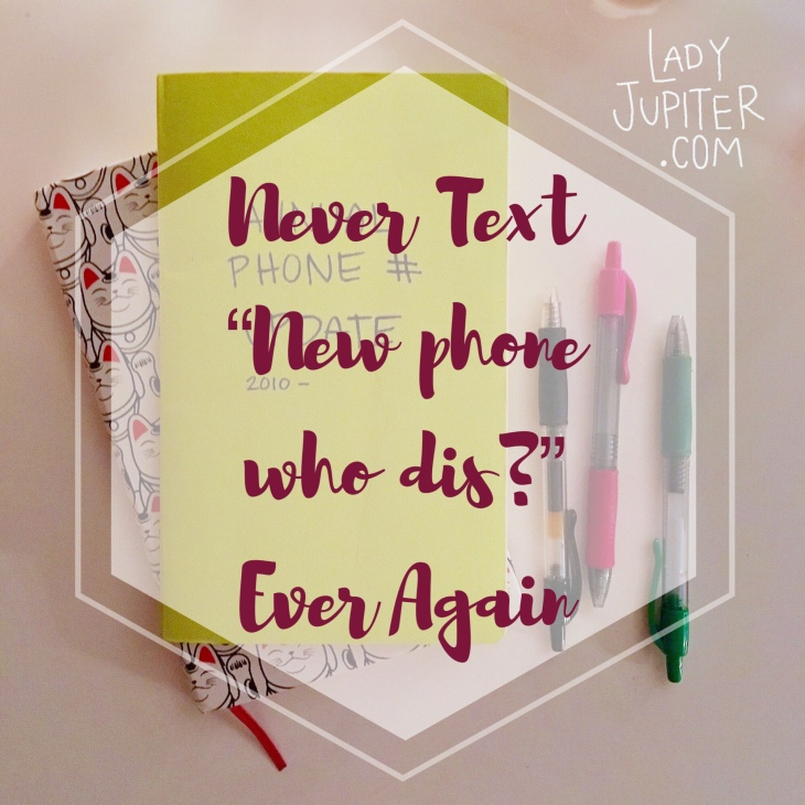 """Never Text """"new phone who dis?"""" Ever Again #milspouse #milblogger #RecordKeeping"""
