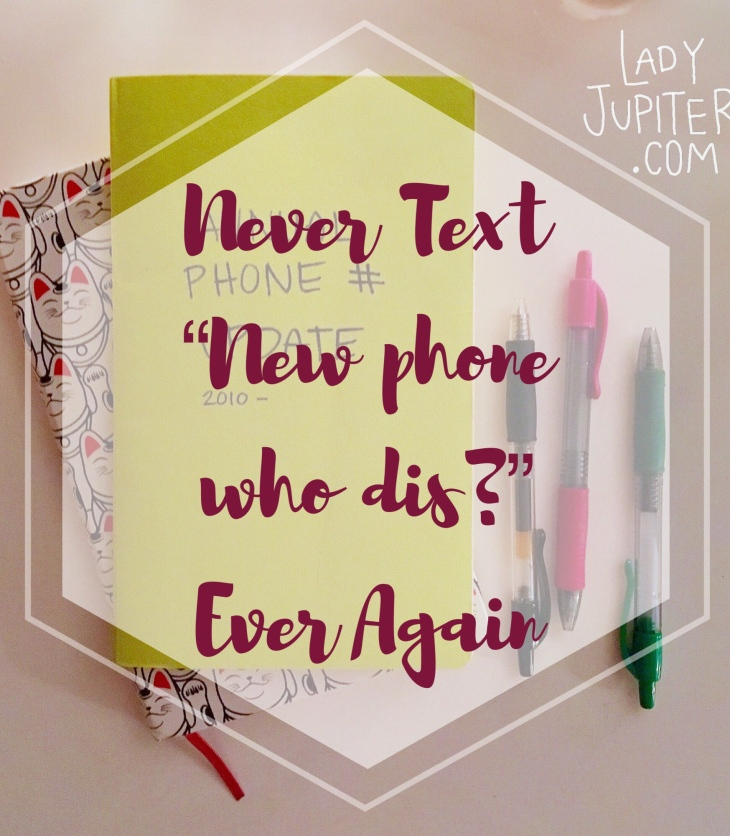 "Never Text ""new phone who dis?"" Ever Again #milspouse #milblogger #RecordKeeping"