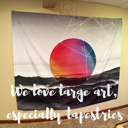 Wall tapestries are a quick easy way to change a room and add color without too much commitment #tapestries #society6 #bigcolor