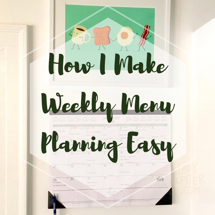 How I make weekly menu planning easy. It's all about organization, this is how I do it. #howto #menuplanning #milblogger