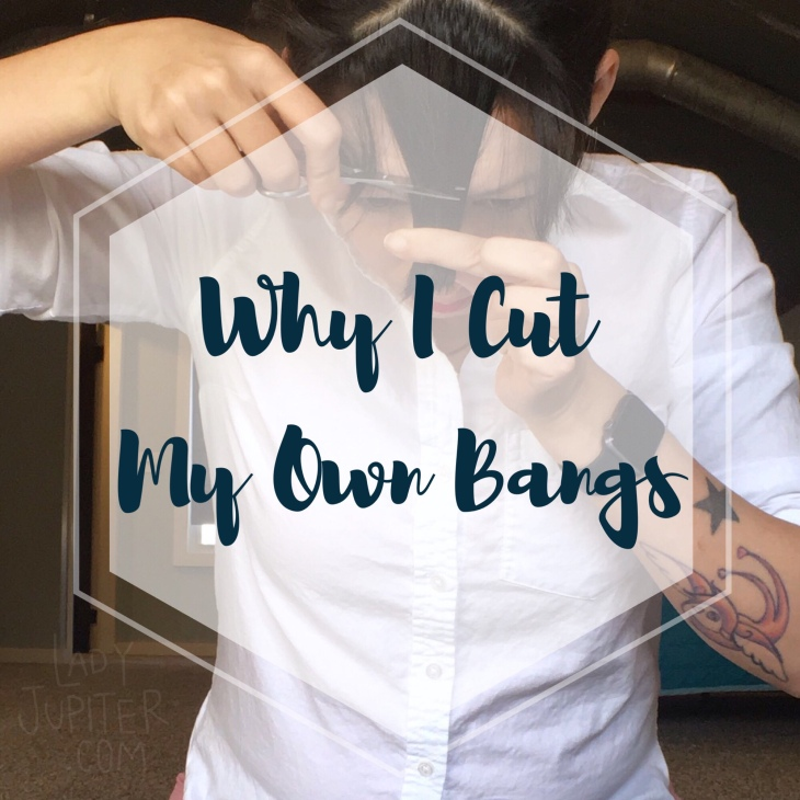 Why DO I cut my own bangs? Let's talk about self-hair cutting and I'll show you how I easily shed an inch #bangtrim #DIY #fearless
