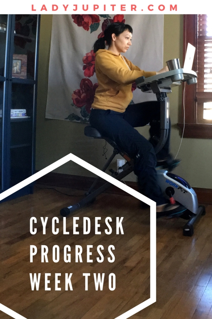 I bought a cycledesk and I am tracking my progress now that I can work and cycle at the same time #deskercise #workathome #nomakeup