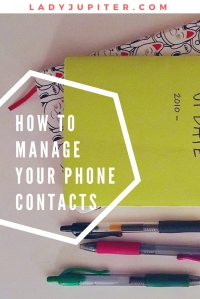 "How I manage my phone contacts, and why I never text ""new phone who dis?"" #milspouse #milblogger #RecordKeeping"