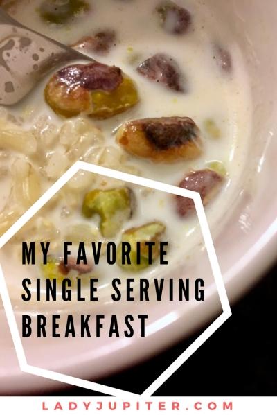 Overnight breakfast matters. Oatmeal gets boring. Here's my favorite single serving mug breakfast #mugbreakfast #indianricepudding #recipe