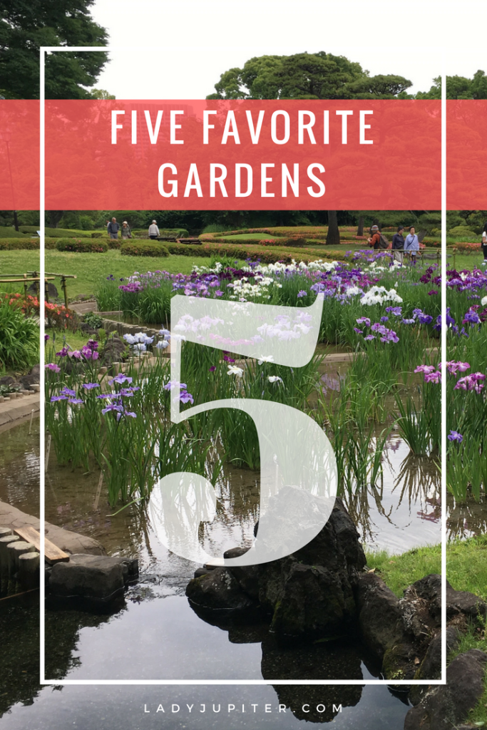 I wanted to share my five favorite gardens in the world. Three are on the West Coast, two are in Japan. What are your favorites? #gardens #fivefaves #travel