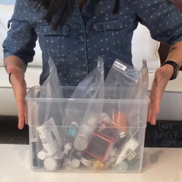 Quick peek into my sample organization. I group by quarter received and keep all in one transparent box #typeA #notreally #realorganization
