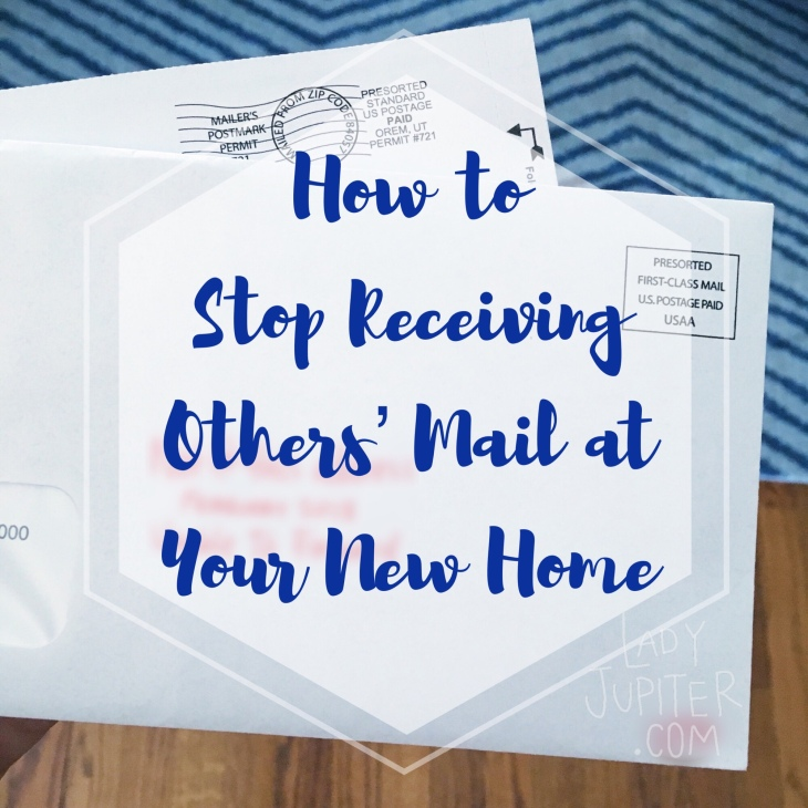Still receiving mail from past residents? Let me show you how to stop this unwanted mail, it's fast and easy. #nomad #milblogger #airforcewife