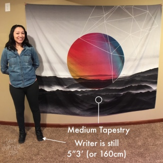 Tapestries are my favorite large-scale art. Easy to move, so they're perfect for art-loving nomads. #tapestries #wallart #militaryspouse