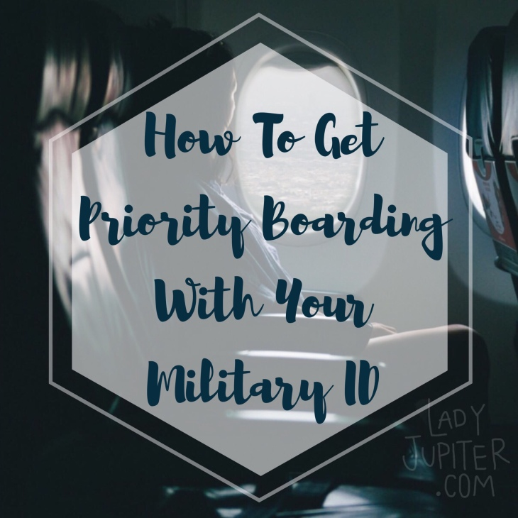 Traveling soon, Milspo? Make sure you're getting your Priority boarding pass. Fly smarter, ladies & gents. #priorityboarding #militaryID #milspouse