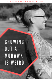 Growing out a mohawk is weird. I'm here to show you how it looks if you're not cutting it all short 👍 #mohawk #growinghair #progressphotos
