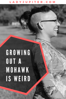 Growing out a mohawk is weird. I'm here to show you how it looks if you're not cutting it all short #mohawk #growinghair #progressphotos