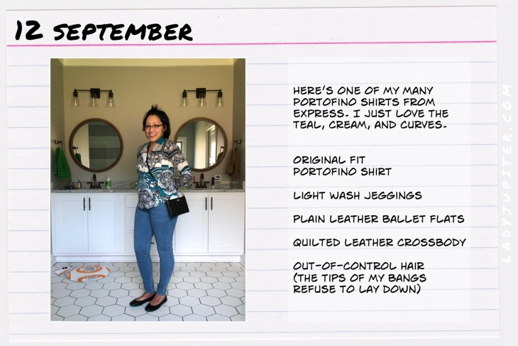 Outfit of the day September 12. #OOTD #NotAFashionBlogger #JustANormalLady