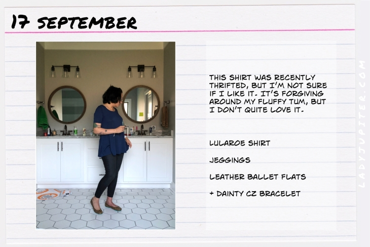 Outfit of the day September 17. #OOTD #NotAFashionBlogger #JustANormalLady