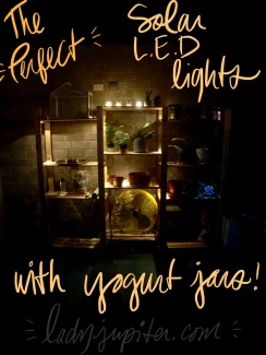 Want a perfectly lit patio with solar LEDs and recycled jars? I got you! #SolarLEDs #PatioLighting #YoplaitPetites