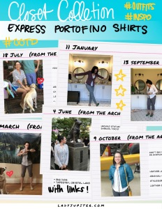Here's my collection of Portofino shirts from Express. If you're thinking about buying some, come see how I wear mine! #outfits #HowIWoreIt #Express