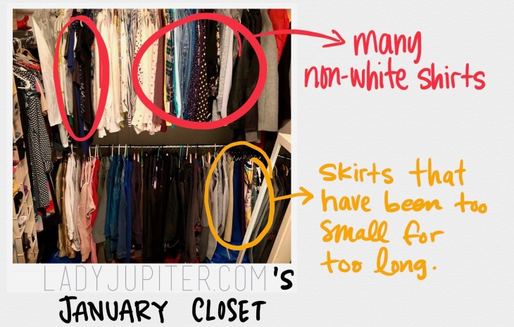 My January closet. Lots of room to improve. #startsomewhere #maximalism #clothes