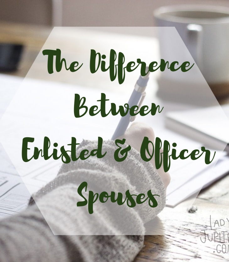 The difference between E and O spouses - that's right. #MilSpos #militarywives