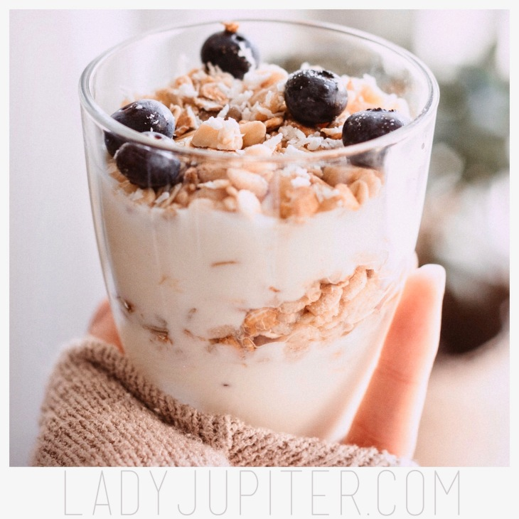 Greek yogurt with fruit and granola, yum