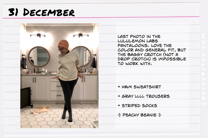 Outfit of the day December 31. #OOTD #NotAFashionBlogger #WhatIWore #ootdshare #LululemonLabs