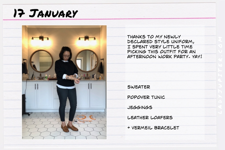 Outfit of the day January 17. #OOTD #WhatIWore #ootdshare #BrownLoafers