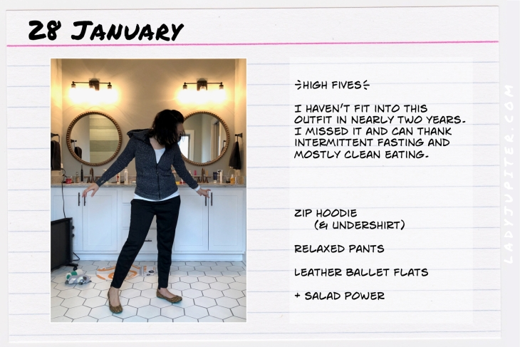 Outfit of the day January 26. #OOTD #WhatIWore #ootdshare #Lululemon #ScubaHoodie