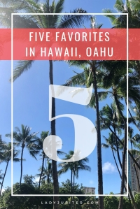 Time to talk about my five favorite things in Hawaii, on Oahu. I'll bring beach towels, you bring the sunscreen! #fivefaves #hawaii #oahu