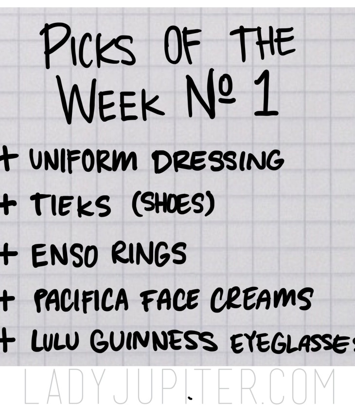 Picks of the Week, № 1. Ringing in the New Year with last years MVPs. #Tieks #siliconerings #LuluGuinness