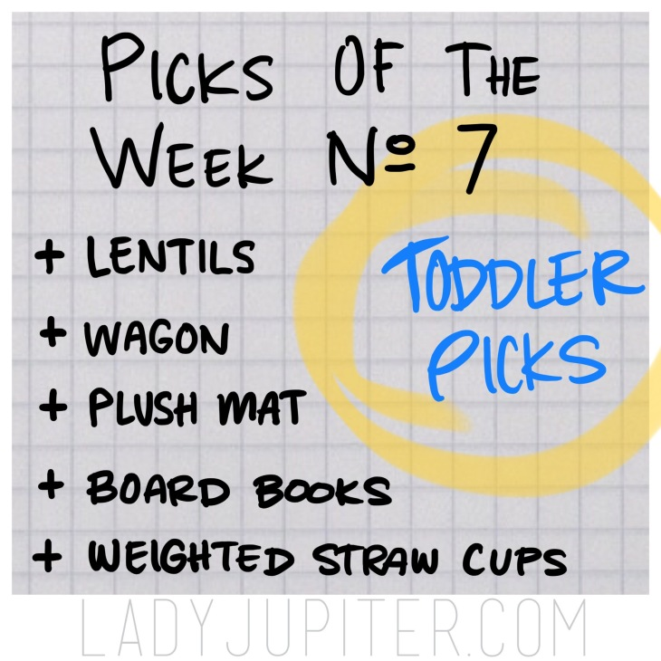 Picks of the Week, № 7. Toddler picks! These are my son's favorites. #LENTILS #books #plushmat