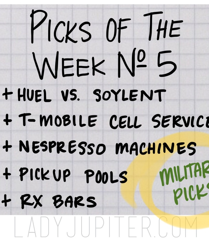 Picks of the Week, № 5. Talking about sustenance, phones, and pools #FiveFaves #PicksoftheWeek #milblogger #milso