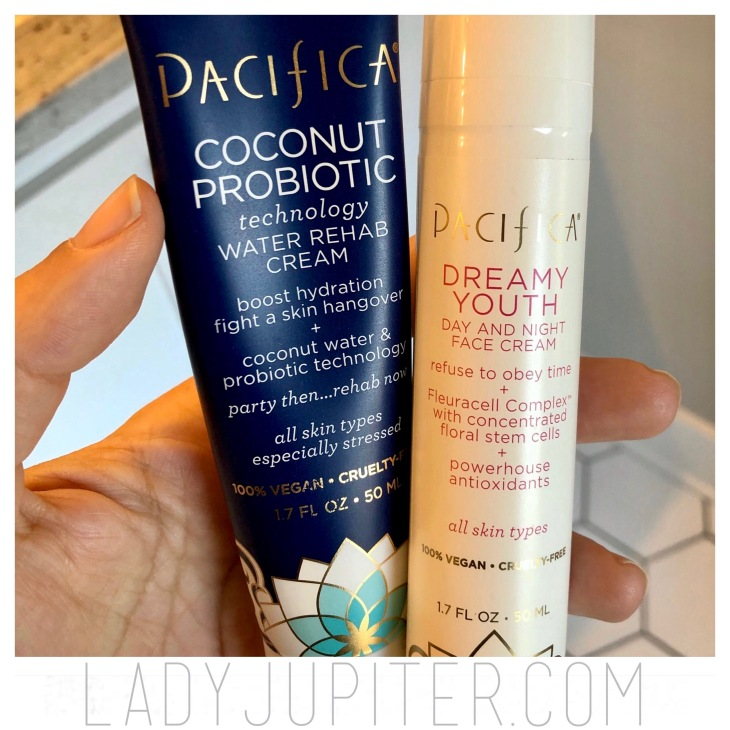 My favorite moisturizers of the moment. Pacifica has kept my face feeling hydrated without feeling heavy. #moisturize #probiotic #facialcare