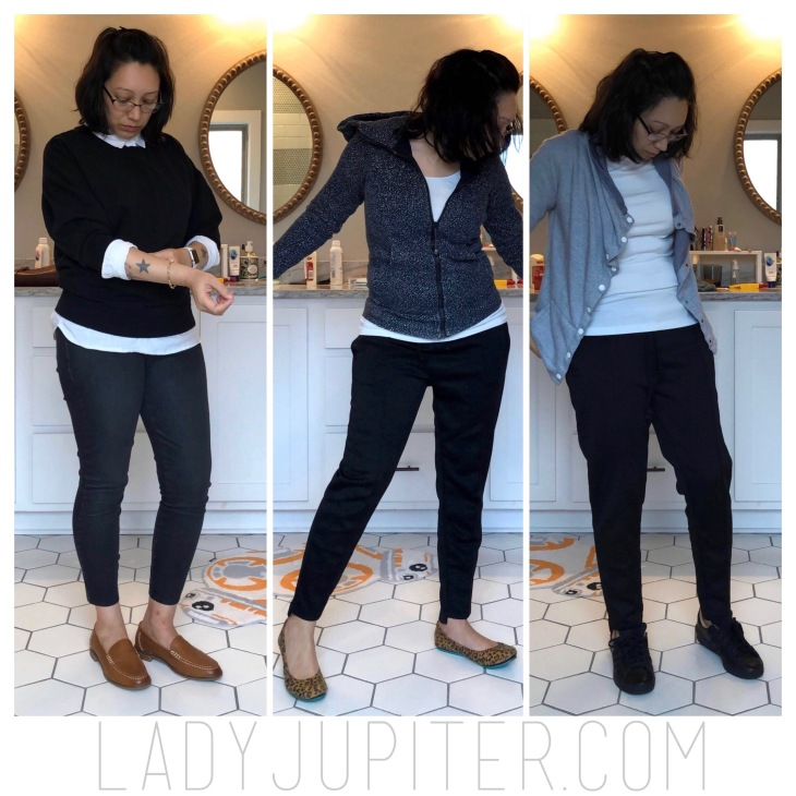 Uniform dressing is a great way to wear almost the same thing everyday. No limits or set rules - it's all about making your life easy. #uniformdressing #styleuniform #blackpantswhiteshirt