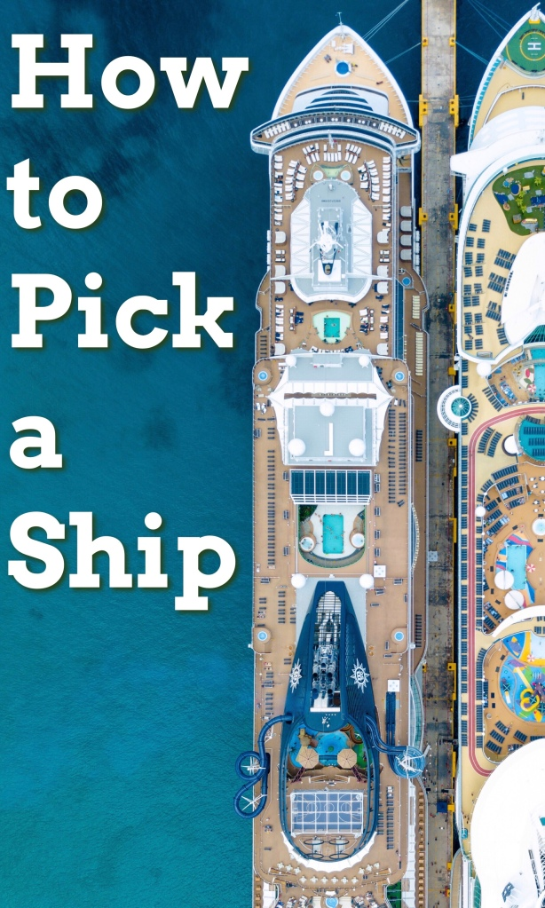 Cruise talk! Today I share how my husband and I pick a ship and pack for the trip. Thinking about booking a cruise? Start here! #cruises #floatinghotel #cruiseship