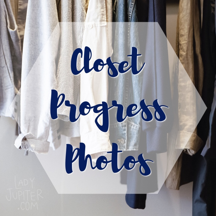 Closet progress photos as I embrace the minimalism of uniform dressing - this is going to take a while. #progressphotos #minimalism