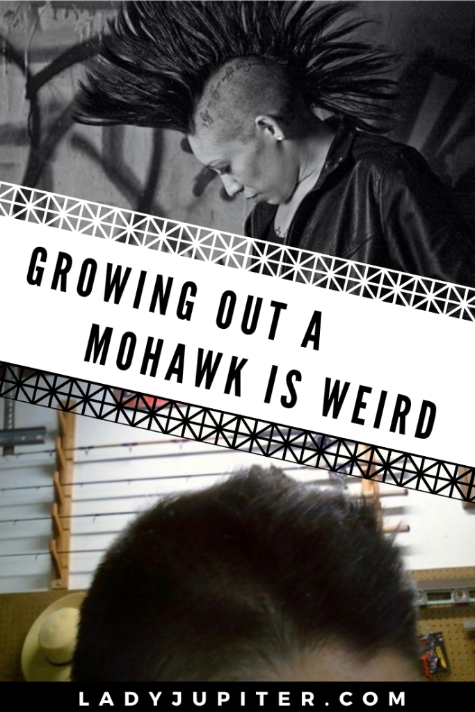Growing out a mohawk is weird. I'm here to show you how I did it👍 #mohawk #growinghair #progressphotos