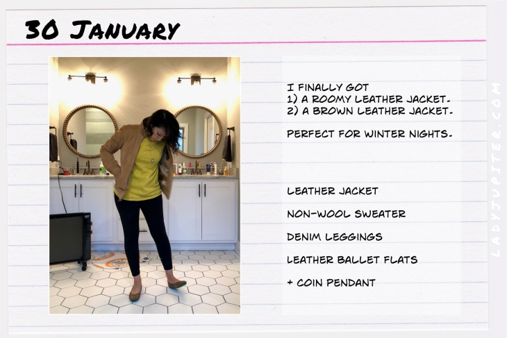 Outfit of the day January 30. #OOTD #WhatIWore #ootdshare #leatherjacket #coinpendant