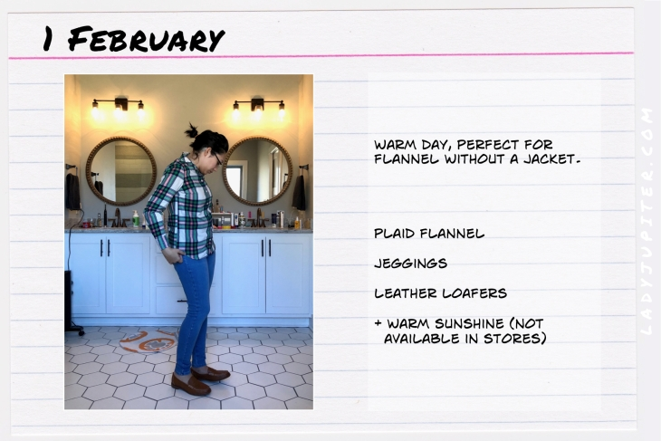 Outfit of the day February 1. #OOTD #WhatIWore #ootdshare #JCrew #flannel #loafers