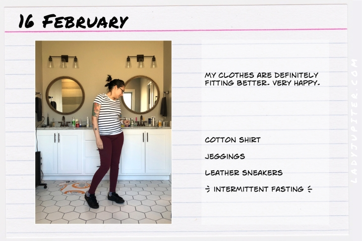 Outfit of the day February 16. #OOTD #WhatIWore #ootdshare #AmazonEssentials #IntermittentFasting