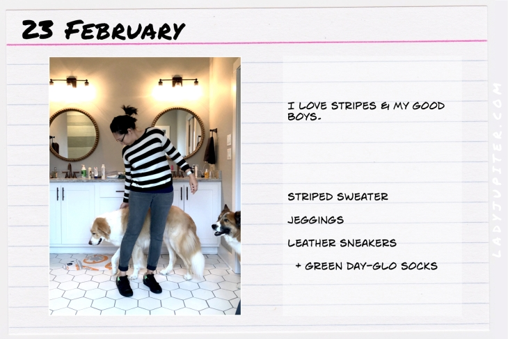 Outfit of the day February 23. #OOTD #dailyoutfit #stripes