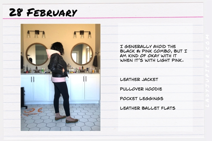 Outfit of the day February 28. #OOTD #dailyoutfit #leatherjacket #Nikita
