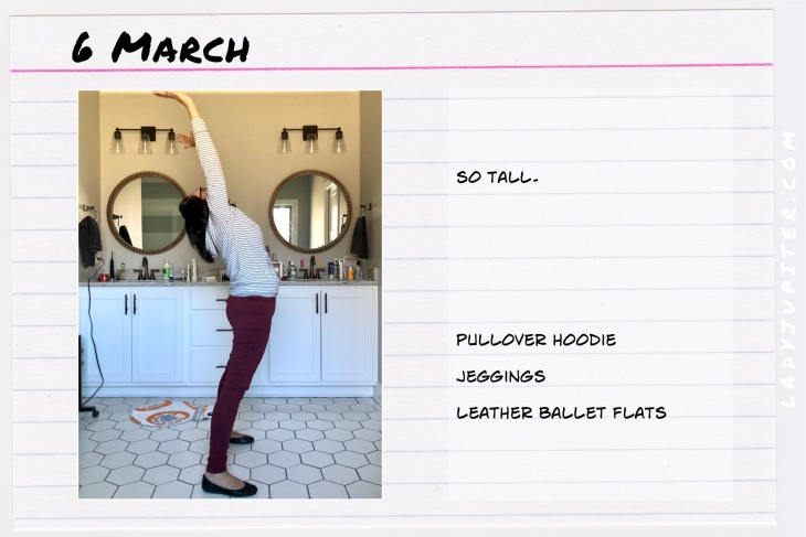 Outfit of the day March 6. #OOTD #dailyoutfit #amazonessentials #jeggingsover30