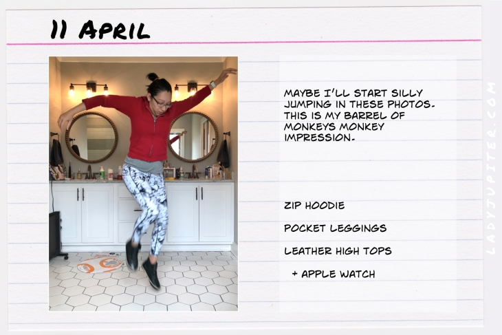 Outfit of the day April 11. #OOTD #dailyoutfit #COVID-19 #marbleprint