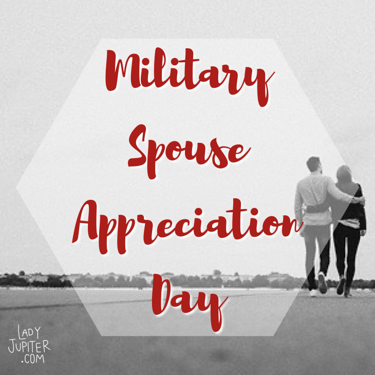 Quick post about Military Spouse Appreciation Day! It's the Friday before Mothers Day. It doesn't have a lot of history, but I am happy for it just the same. #militaryspouseday #milspo