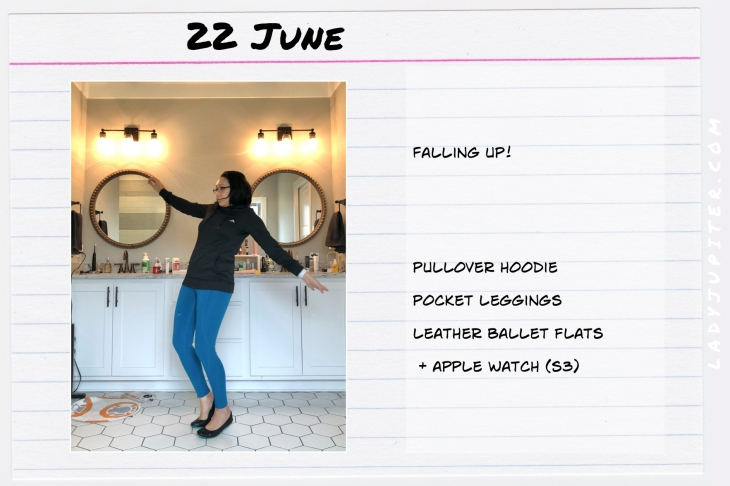 Outfits of the Day June 22. #OOTD #summer #over35 #leggings