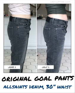 Original goal pants don't feel any more loose this month; accidental size increase confirmed! #ButItsOkay #fastlonger #shorterwindows