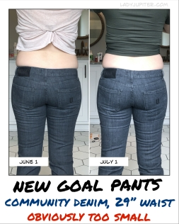 New goal pants confirmed that I gained size this month - oops! #ItsOkay #LetsFixThis #fasting