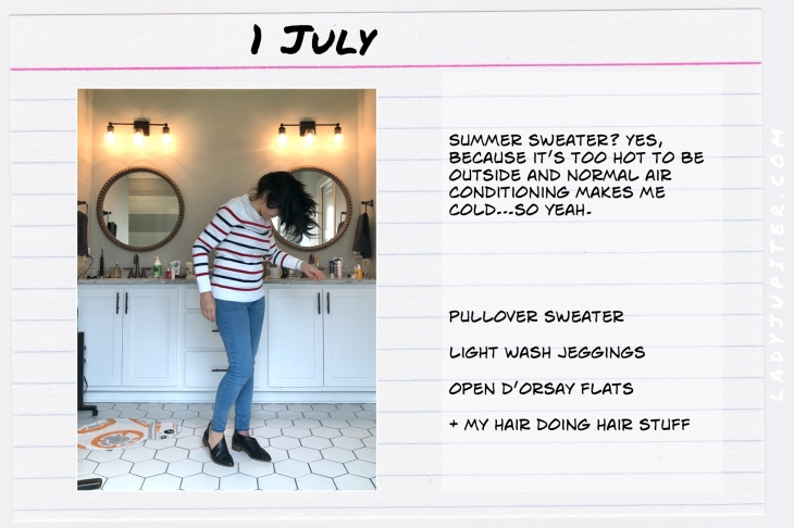 Outfits of the Day July 1. #OOTD #summer #over35 #opendorsayshoes