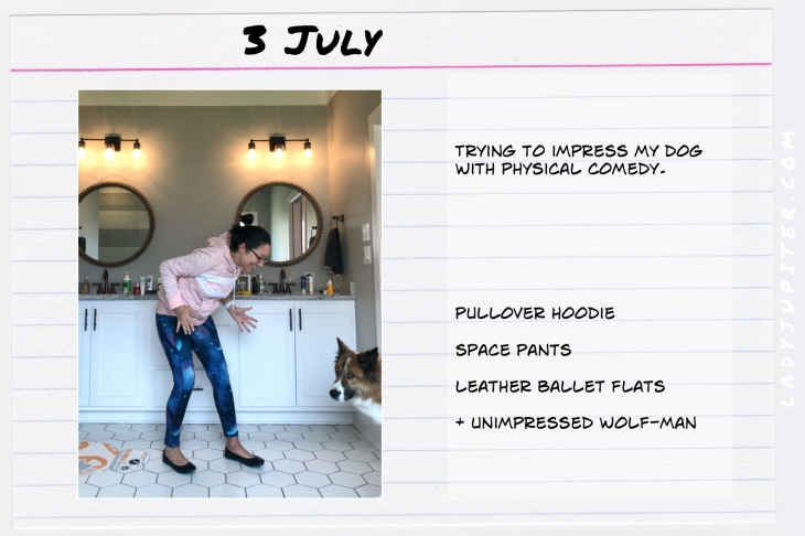 Outfits of the Day July 3. #OOTD #summer #over35 #SPACEPANTS