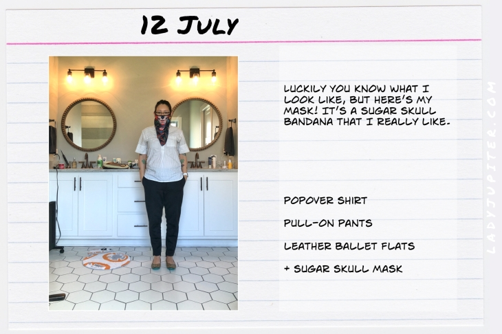 Outfits of the Day July 12. #OOTD #summer #over35 #sugarskullmask