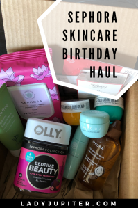 Happy birthday to me! I love buying myself fresh skincare for my birthday, so here are the goods I picked and used in 2020. #sephora #skincare #sephorahaul #happybirthday